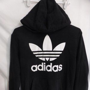 ADIDAS, youth 13-14 years, black hooded sweatshirt